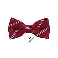 Bow Tie House™ Бабочка маленькая в полоску и клубную символику красная