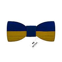 Bow Tie House™ Деревянная бабочка с флагом Украины - нарисованная