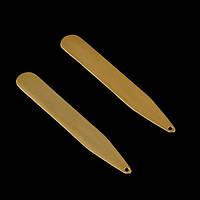 Вставки в воротник золотистые - держатели воротника