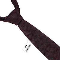 Галстук мужской шерстяной бордовый величественный Bow Tie House™