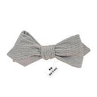 Bow Tie House™ Галстук-бабочка серая хлопковая уголком