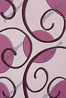 """Рельефный прямоугольный ковер Радуга """"Кисть"""", цвет розовый"""