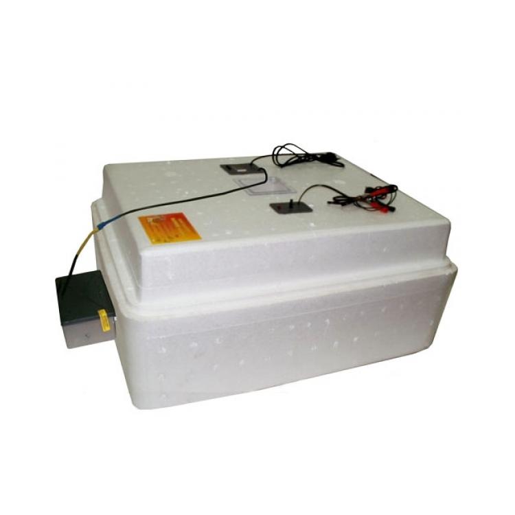 Бытовой инкубатор Несушка на 77 яиц, автоматический переворот, цифровой терморегулятор + 12 вольт