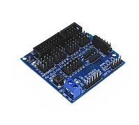 Плата с разьемами для датчиков V5.0  для Arduino модулей UNO, Mega 2560, Duemilanove AVR
