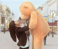 Огромный карамельный медведь плюшевый 2 метра