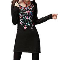 Платье черное Трикотажное вязаное