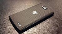 """Декоративная защитная пленка для Prestigio MultiPhone 4500 DUO """"микрокарбон черный"""", фото 1"""
