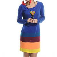 Платье разноцветное из трикотажа
