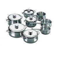 Набор нержавеющей посуды SILVER   (13 предметов)