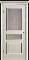 Двери шпонированные Вена-Ш ПО (белый ясень)