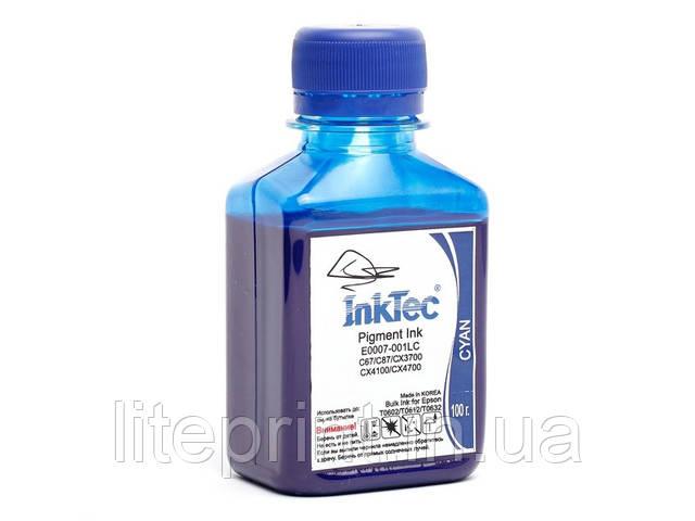 Чернила для принтера Epson пигментные InkTec - E0007, Cyan, 100 г