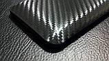 """Декоративна захисна плівка для HTC Desire 609D """"карбон чорний"""", фото 5"""