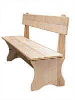 Скамья со спинкой деревянная