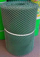 Забор садовый.Ячейка 20х20 мм, рул. 50см х 30 м (темно-зеленая).Ромб.
