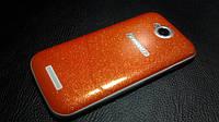 """Декоративна захисна плівка для Lenovo IdeaPhone A706 """"оранж блестяжки"""", фото 1"""