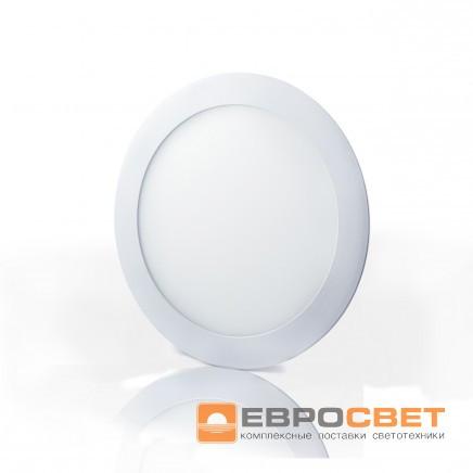 Накладной светодиодный светильник ЕВРОСВЕТ 24Вт круг