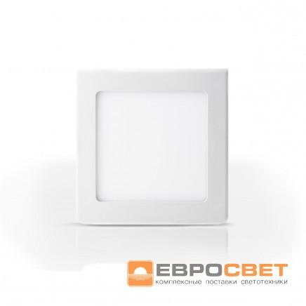 Накладной светодиодный светильник ЕВРОСВЕТ 24Вт квадрат