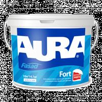 Фасадная краска Aura Fasad Fort 10л – Атмосферостойкая краска для фасадов. Аура Форт