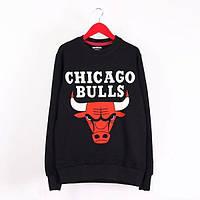 Мужской свитшот (толстовка) утепленный Rextim - Chicago Bulls, Grey