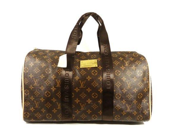 eac9f49c8c22 Сумка дорожная кожа PU коричневая monogramm Louis Vuitton 366 ...