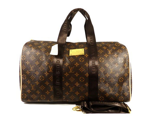 8899db13ffc9 ... Сумка дорожная кожа PU коричневая monogramm Louis Vuitton 366, ...