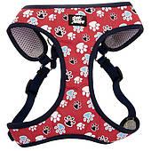 Шлея для собак, 40,6-48,3см, 3,2-4,5кг Coastal Designer Wrap, красный с лапками