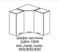 "Кухня""Аспект"" секция верхняя угловая ШКН-1000"