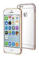 Чехол-накладка Bumper i-Smile for iPhone 6 iDelighte Aluminum Bumper Gold (IPH1003-GO), фото 1