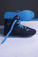 Кроссовки женские синие с голубым