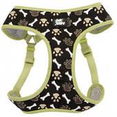 Шлея для собак, 40,6-48,3см, 3,2-4,5кг Coastal Designer Wrap, коричневые лапки