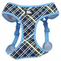 Coastal Designer Wrap шлея для собак, 40,6-48,3см, 3,2-4,5кг, сине-желтый плед