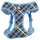 Шлея для собак, 40,6-48,3см, 3,2-4,5кг Coastal Designer Wrap, сине-желтый плед