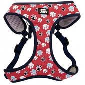 Шлея для собак, 48,3-58,4см, 4,5-8,2кг Coastal Designer Wrap, красный с лапками