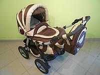 Детская коляска трансформер Flax. Надувные колеса