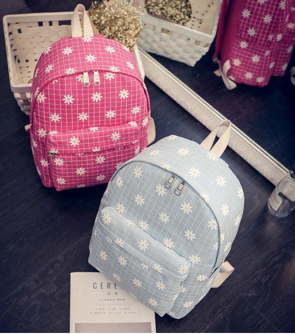 Рюкзак в цветочек для девочки