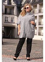 Женское пончо букле больших размеров Кейт размер 48-70