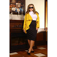 Женская юбка карандаш Офелия цвет черный размер 48-72