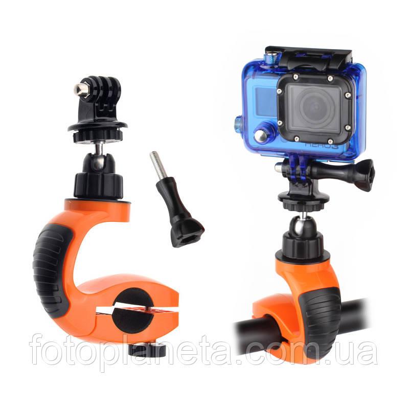 Крепление на руль или трубу (оранж.) Bike Holder для Gopro, SjCam, Xiaomi