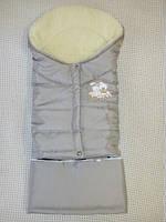 Детский спальный конверт трансформер. Капучиновый