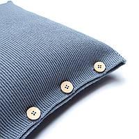 Наволочка декоративная на пуговицах Ohaina 40х40 цвет пыльно-голубой