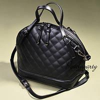 Черная стеганая сумка в стиле Chanel, фото 1