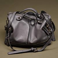 Серая кожаная сумка, фото 1