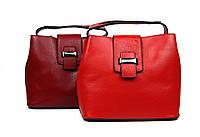 Красная кожаная сумка, фото 1