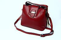 Бордовая кожаная сумка, фото 1