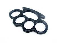 Кастет для самообороны из легированной стали, черный цвет, вес -160гр