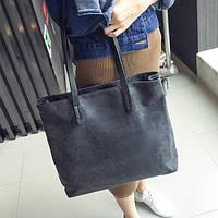 Джинсовая женская сумка шоппер