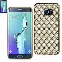 Чехол-накладка Rhombus Silicone Samsung J105 (J1 Mini) Gold, фото 1