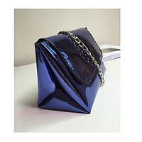 Синяя лаковая сумка,кроссбоди, фото 1