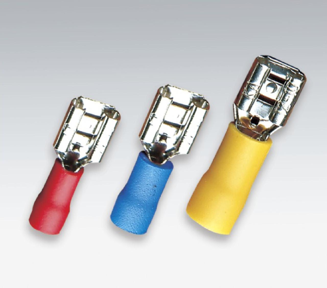 Конектор плоский плон. изол. MDFN 2-250 1,5-2,5/6,3-0,8 (100шт)
