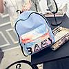 Голубой городской тканевый рюкзак Baby